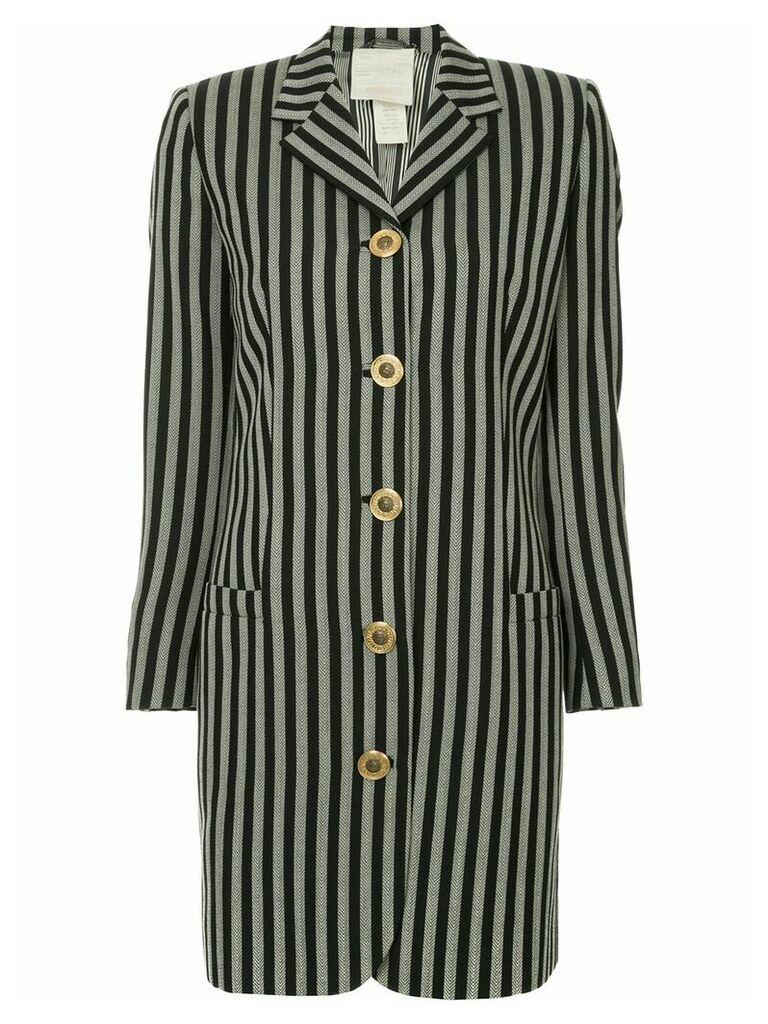 Versace Vintage long sleeve coat jacket - Grey