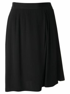 Yves Saint Laurent Pre-Owned 1996 wrapped skirt - Black