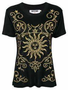 Moschino Pre-Owned gold-tone embroidery T-shirt - Black
