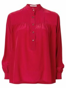Yves Saint Laurent Pre-Owned button up blouse - Red