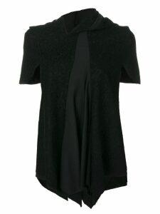Comme Des Garçons Pre-Owned lace panelled blouse - Black