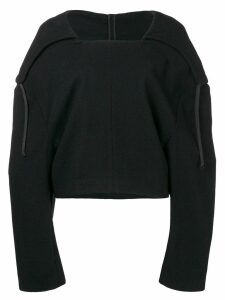Comme Des Garçons Pre-Owned 1996 hooded cropped jumper - Black