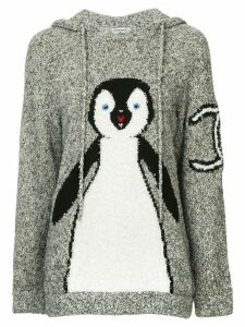 Chanel Pre-Owned 2007 CC penguin knitted hoodie - Grey