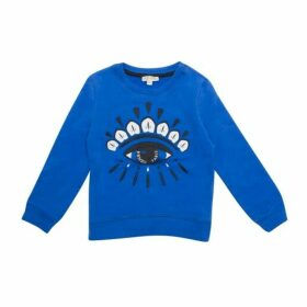 Kenzo Cotton Eye Sweat Top Blue Size 8YR-12YR