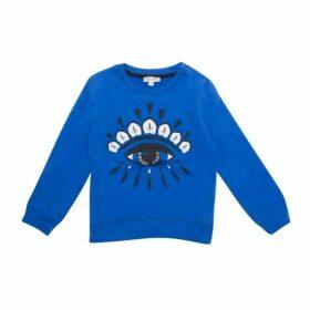Kenzo Cotton Eye Sweat Top Blue Size 8YR-12YR