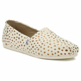 Toms  Womens Natural / Rose Gold Polka Dots Classic Espadrilles  women's Espadrilles / Casual Shoes in multicolour