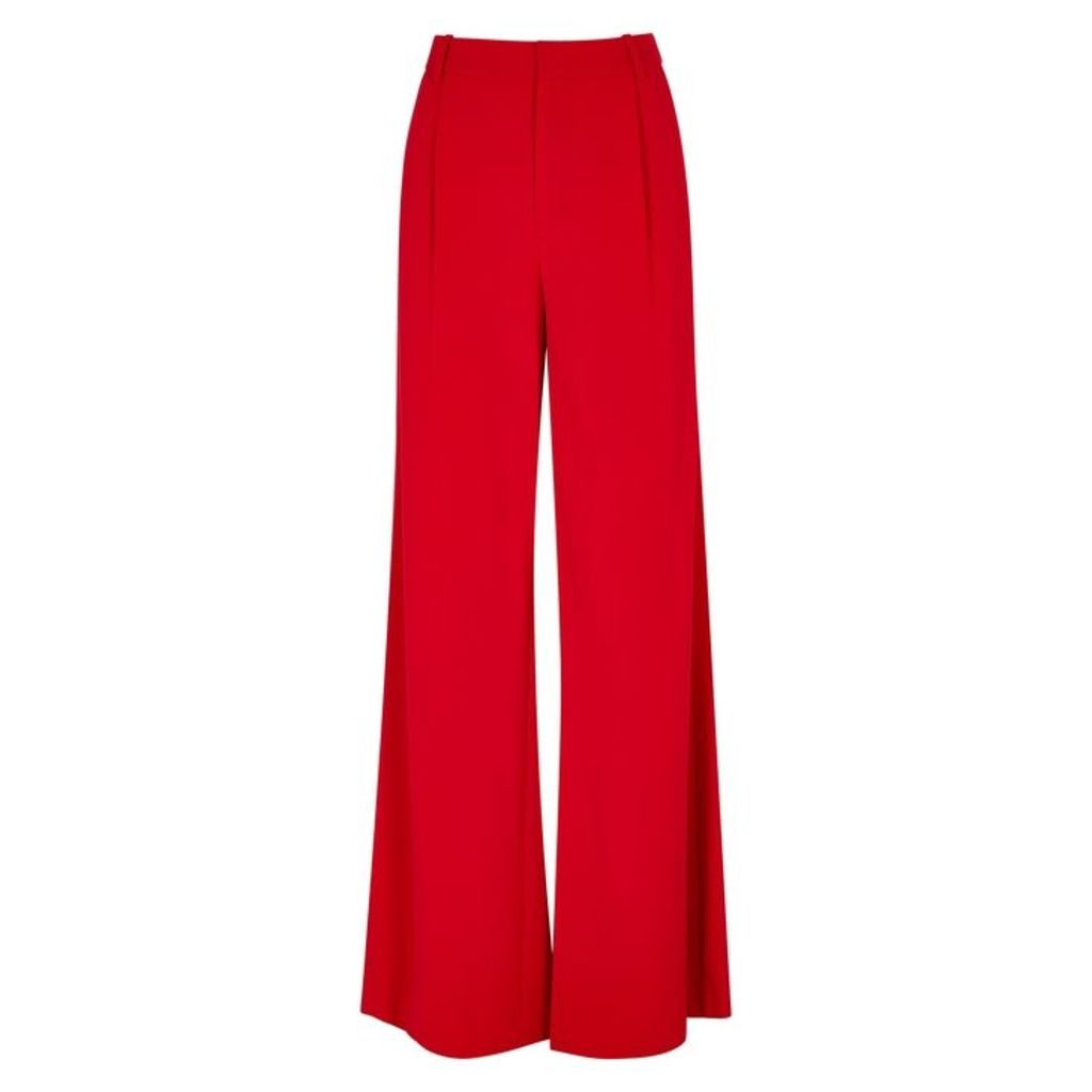 Alice + Olivia Eric High-waisted Wide-leg Trousers