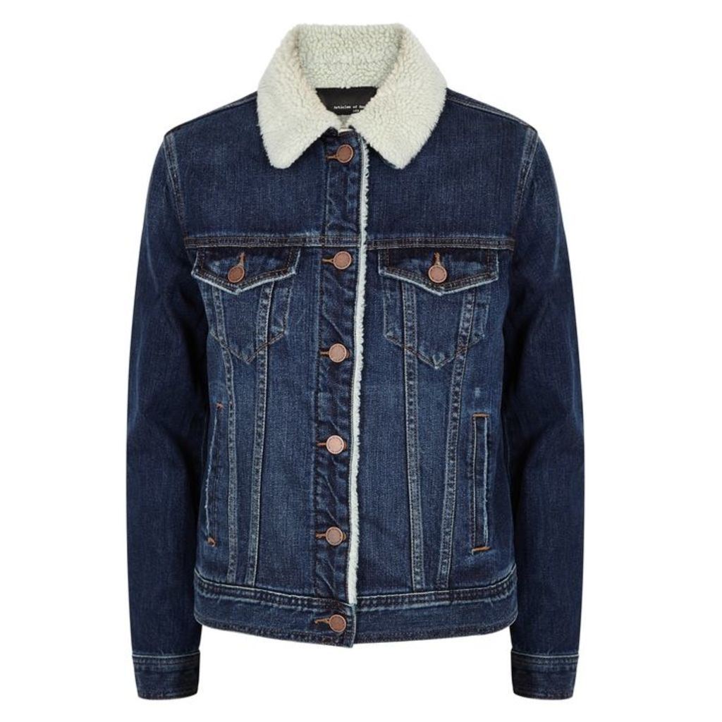 Articles Of Society Liz Blue Stretch-denim Jacket
