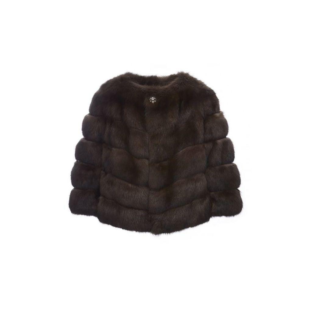 Lilly E Violetta Carmen Sable Fur Jacket