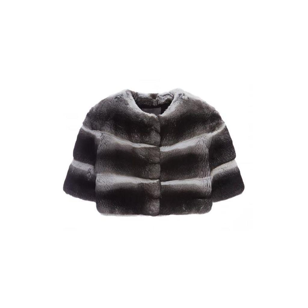 Lilly E Violetta Chinchilla Mini Fur Jacket