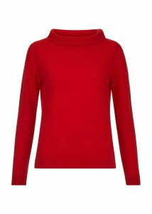 Audrey Wool Blend Sweater Red