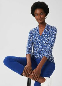 Becca Wool Cashmere Sweater Navy Multi