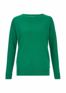 Dawn Wool Blend Sweater Emerald