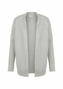 Louisa Cotton Cashmere Cardigan Grey
