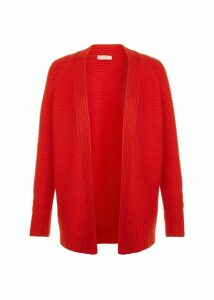 Louisa Cotton Cashmere Cardigan Red