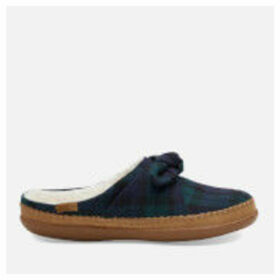 TOMS Women's Plaid Felt Bow Slippers - Spruce - UK 4 - Green