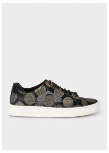 Women's Black Mesh Glitter Polka Dot 'Lapin' Trainers