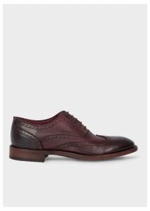 Women's Burgundy Leather 'Munro' Flexible Travel Brogues