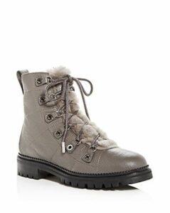 Jimmy Choo Women's Hillary Leather & Shearling Hiking Boots