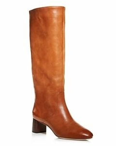 Loeffler Randall Women's Gia Pointed Toe Knee-High Leather Mid-Heel Boots
