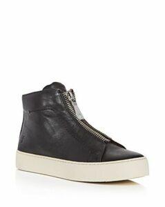 Frye Women's Lena Zip Up Leather High Top Sneakers