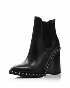 Charles David Women's Scandal Pointed Toe Studded Leather Booties