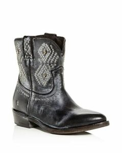 Frye Women's Billy Distressed Leather Low-Heel Western Boots