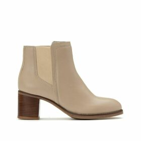 Leather Chelsea Ankle Boots with Crepe Effect Sole