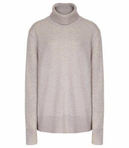 Reiss Clarissa - Cashmere Rollneck in Soft Grey, Womens, Size XXL