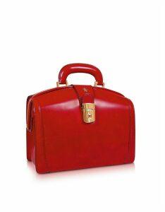Pratesi Designer Briefcases, Ladies Polished Italian Leather Briefcase