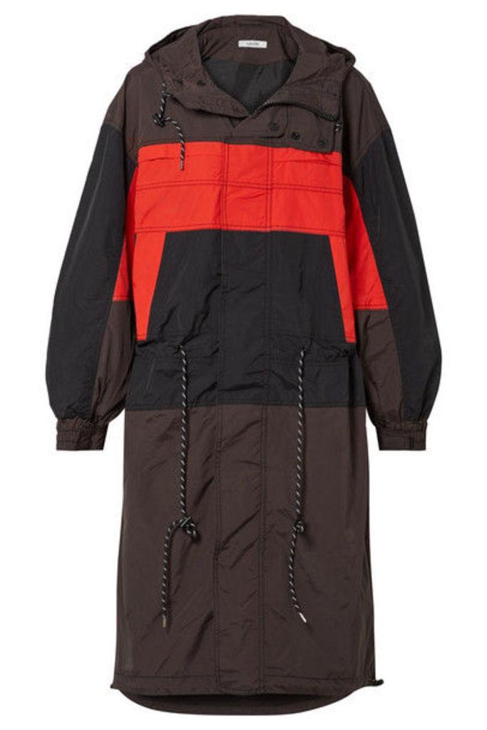 GANNI - Faust Hooded Color-block Shell Jacket - Black