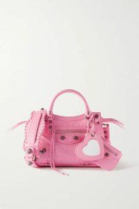 16ARLINGTON - Tie-detailed Cropped Sequined Crepe Top - Black