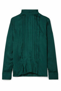 By Malene Birger - Wildi Pleated Satin Blouse - Green