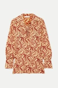 Chloé - Printed Silk Crepe De Chine Blouse - Brown