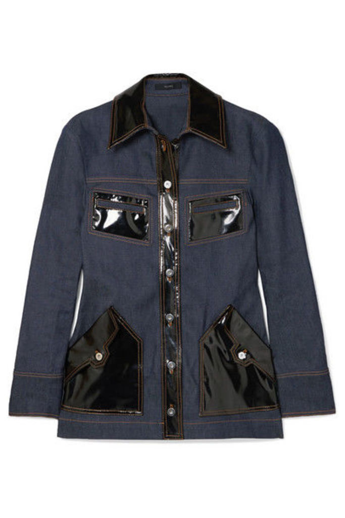 Ellery - Spector Pvc-trimmed Denim Jacket - Indigo