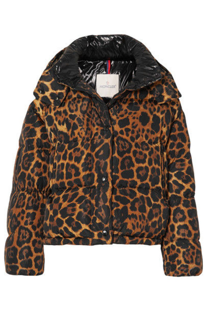 Moncler - Leopard-print Quilted Shell Down Jacket - Brown