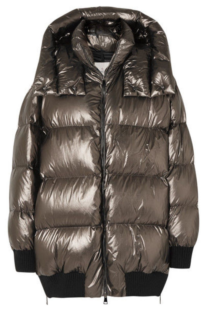 Moncler - Quilted Metallic Shell Down Jacket - Bronze