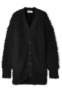 Marni - Oversized Textured Wool-blend Cardigan - Black