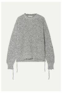 Helmut Lang - Distressed Knitted Sweater - Gray