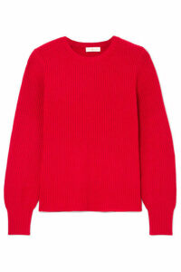 Tory Burch - Kennedy Ribbed-knit Sweater - Red