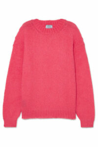 Prada - Oversized Mohair-blend Sweater - Pink