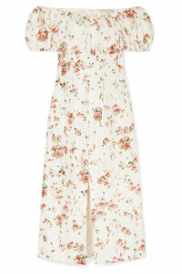 Brock Collection - Dayna Floral-print Silk-satin Midi Dress - Cream