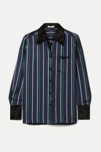 Bella Freud - Little Prince Striped Satin Shirt - Navy