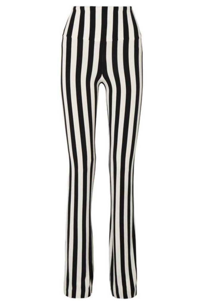 Norma Kamali - Striped Stretch-jersey Bootcut Pants - Black