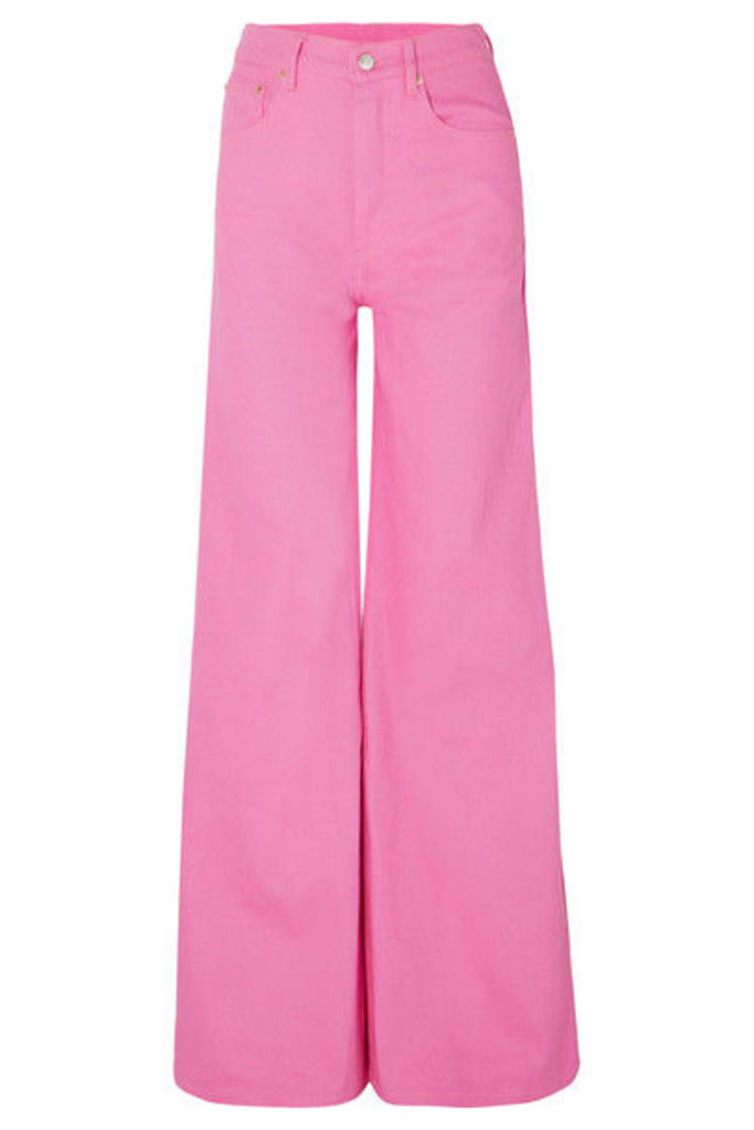 Solace London - Nora High-rise Wide-leg Jeans - Bright pink