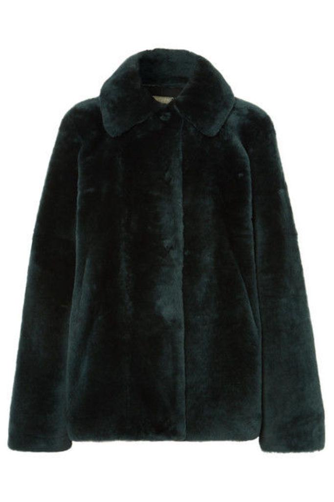 UTZON - Reversible Shearling Jacket - Dark green