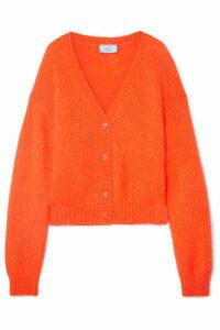 Prada - Cropped Mohair-blend Cardigan - Orange