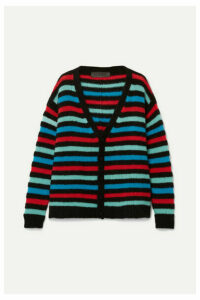 The Elder Statesman - Striped Cashmere Cardigan - Black