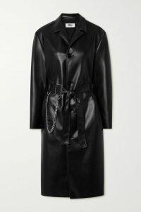 Vince - Garvey Leather-trimmed Suede Slip-on Sneakers - Dark gray