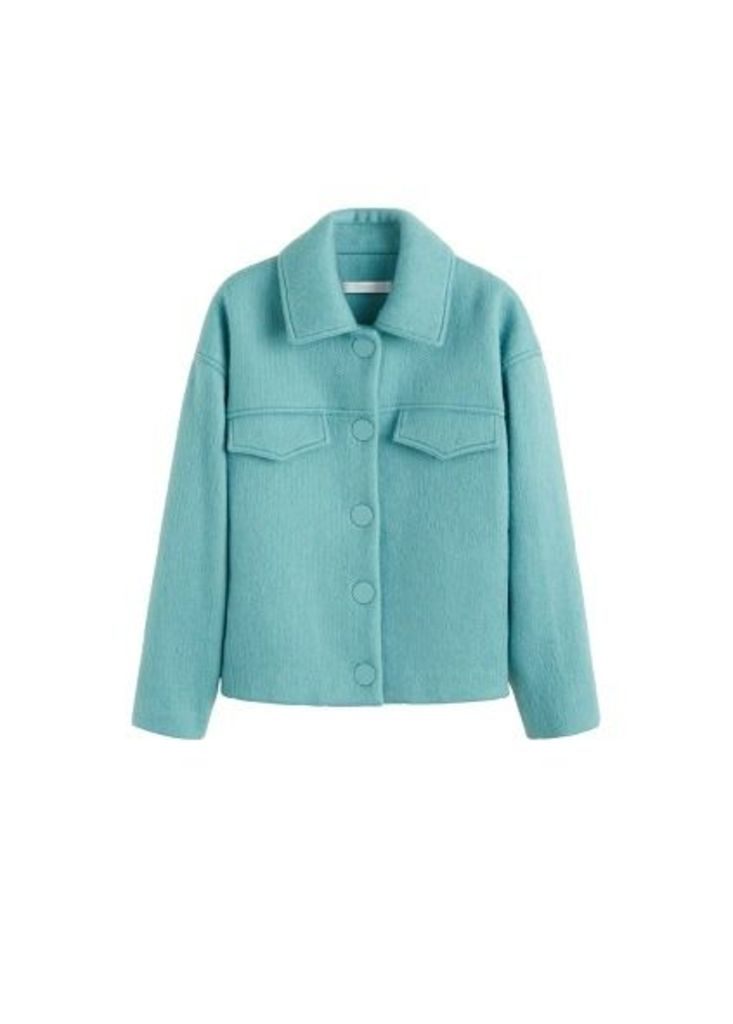 Buttoned wool jacket